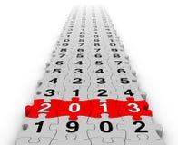 Lyckligt nytt år 2013 Arkivbild