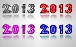 Lyckligt nytt år 2013 Royaltyfri Illustrationer