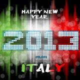 Lyckligt nytt år 2013 från Italien Arkivfoto