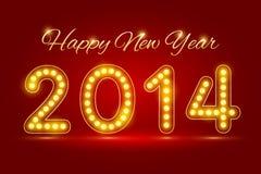 Lyckligt nytt år 2014 Royaltyfria Foton