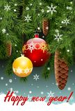 Lyckligt nytt år! Vektor Illustrationer