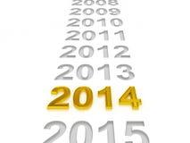Lyckligt nytt år 2014 Royaltyfri Fotografi