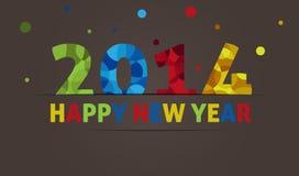 Lyckligt nytt år 2014 Arkivfoto