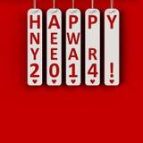 Lyckligt nytt år 2014 Arkivbild