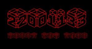 lyckligt nytt år 3d 2013 vektor illustrationer