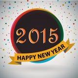 Lyckligt nytt år 2015 Arkivbild