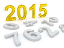 Lyckligt nytt år 2015 Royaltyfria Bilder