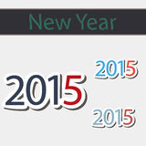 Lyckligt nytt år 2015 Arkivfoto
