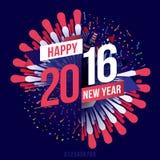 Lyckligt nytt år 2016 Fotografering för Bildbyråer