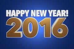 Lyckligt nytt år! 2016 Fotografering för Bildbyråer