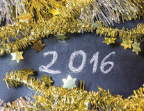 Lyckligt nytt år 2016 Royaltyfri Foto