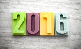 Lyckligt nytt år 2016 Royaltyfria Foton