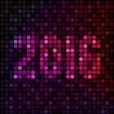 Lyckligt nytt år 2016 Arkivfoto
