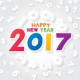 Lyckligt nytt år 2017 Royaltyfria Foton