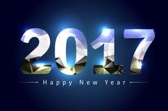 Lyckligt nytt år 2017 Arkivfoto