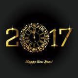 Lyckligt nytt år - 2017 royaltyfri illustrationer
