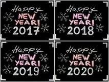 Lyckligt nytt år 2017, 2018, 2019, 2020 Arkivbild