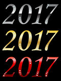 Lyckligt nytt år 2017 Fotografering för Bildbyråer