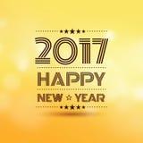 Lyckligt nytt år 2017 vektor illustrationer
