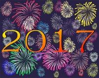 Lyckligt nytt år 2017 royaltyfria bilder