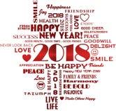 Lyckligt nytt år 2018 vektor illustrationer