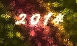 Lyckligt nytt år för 2014 Arkivfoton