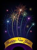 lyckligt nytt år för fyrverkerier vektor illustrationer