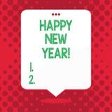 Lyckligt nytt år för handskrifttext Begrepp som betyder glad Xmas för lyckönskan alla börja av Januari vektor illustrationer