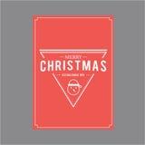 lyckligt nytt år för jul Räkningshälsningkort Fotografering för Bildbyråer