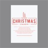 lyckligt nytt år för jul Räkningshälsningkort Royaltyfri Fotografi