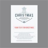 lyckligt nytt år för jul Räkningshälsningkort Royaltyfria Bilder