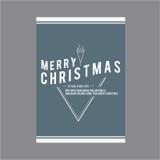 lyckligt nytt år för jul Räkningshälsningkort Arkivfoto