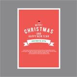 lyckligt nytt år för jul Räkningshälsningkort Arkivfoton