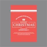 lyckligt nytt år för jul Räkningshälsningkort Royaltyfri Bild