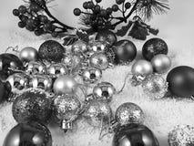 Lyckligt nytt år för julgarneringprydnader royaltyfria bilder
