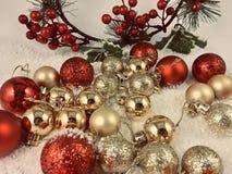 Lyckligt nytt år för julgarneringprydnader royaltyfri bild