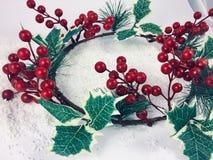 Lyckligt nytt år för julgarneringprydnader arkivbilder