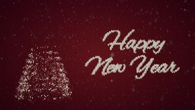 Lyckligt nytt år för jultröja Intro för julhelgdagsafton lager videofilmer