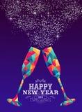 Lyckligt nytt år för triangelhipster för 2019 exponeringsglas färg vektor illustrationer