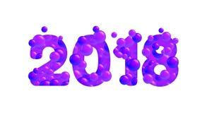 Lyckligt nytt år för vektor 2018 Royaltyfri Bild