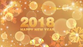 Lyckligt nytt år 2018 för vektorbakgrund Royaltyfri Illustrationer