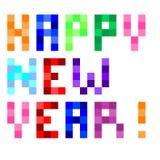 Lyckligt nytt år för vektorPIXELkonst arkivfoto