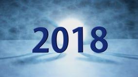 Lyckligt nytt år 2018 ferie bakgrund 2018 lyckliga nya år hälsar stock illustrationer