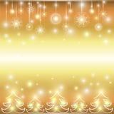 Lyckligt nytt år. Ferieguldbakgrund. Arkivbilder