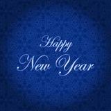 lyckligt nytt år Ferievektorillustration vinter för blåa snowflakes för bakgrund vit Fotografering för Bildbyråer