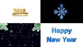 Lyckligt nytt år glad jul, animering stock video