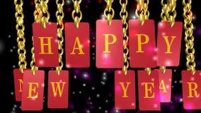 Lyckligt nytt år glad jul, animering lager videofilmer