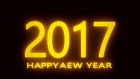 Lyckligt nytt år 2017 - guld royaltyfri illustrationer