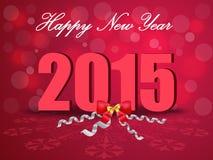 Lyckligt nytt år 2015, hälsningkort stock illustrationer