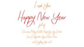 Lyckligt nytt år - hälsningkort med önskaen av ett lyckligt nytt år mycket av fred stock illustrationer